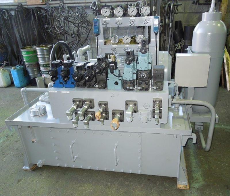 フラッシュバット用油圧ユニット
