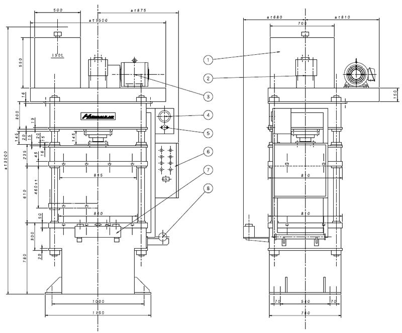 UTP-200kN油圧プレス