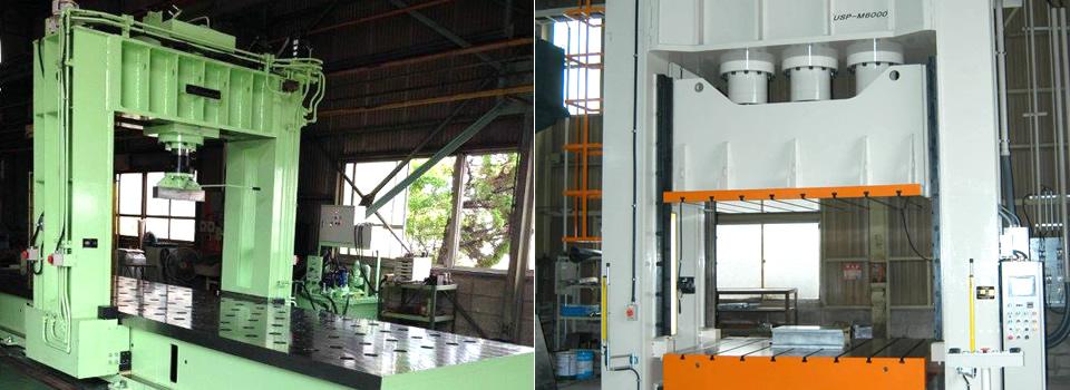 ハイドロリックは主として、油圧プレス・油圧ユニット・油圧シリンダーの設計・製作・販売・改造・修理等を行っている会社です